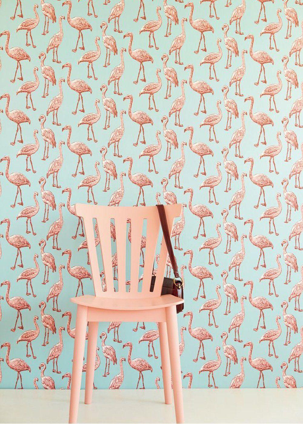 l'imprimé flamingo, chic ou kitsch ? | papier peint, peindre et ... - Peut On Repeindre Sur De La Tapisserie