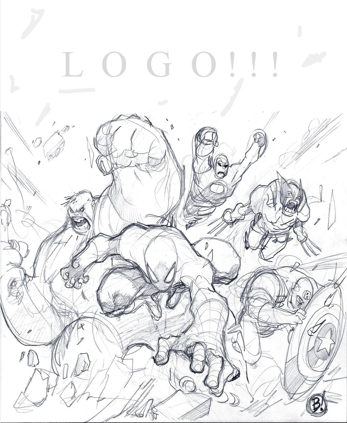 Avenging Spider Man 1 Cover Sketch