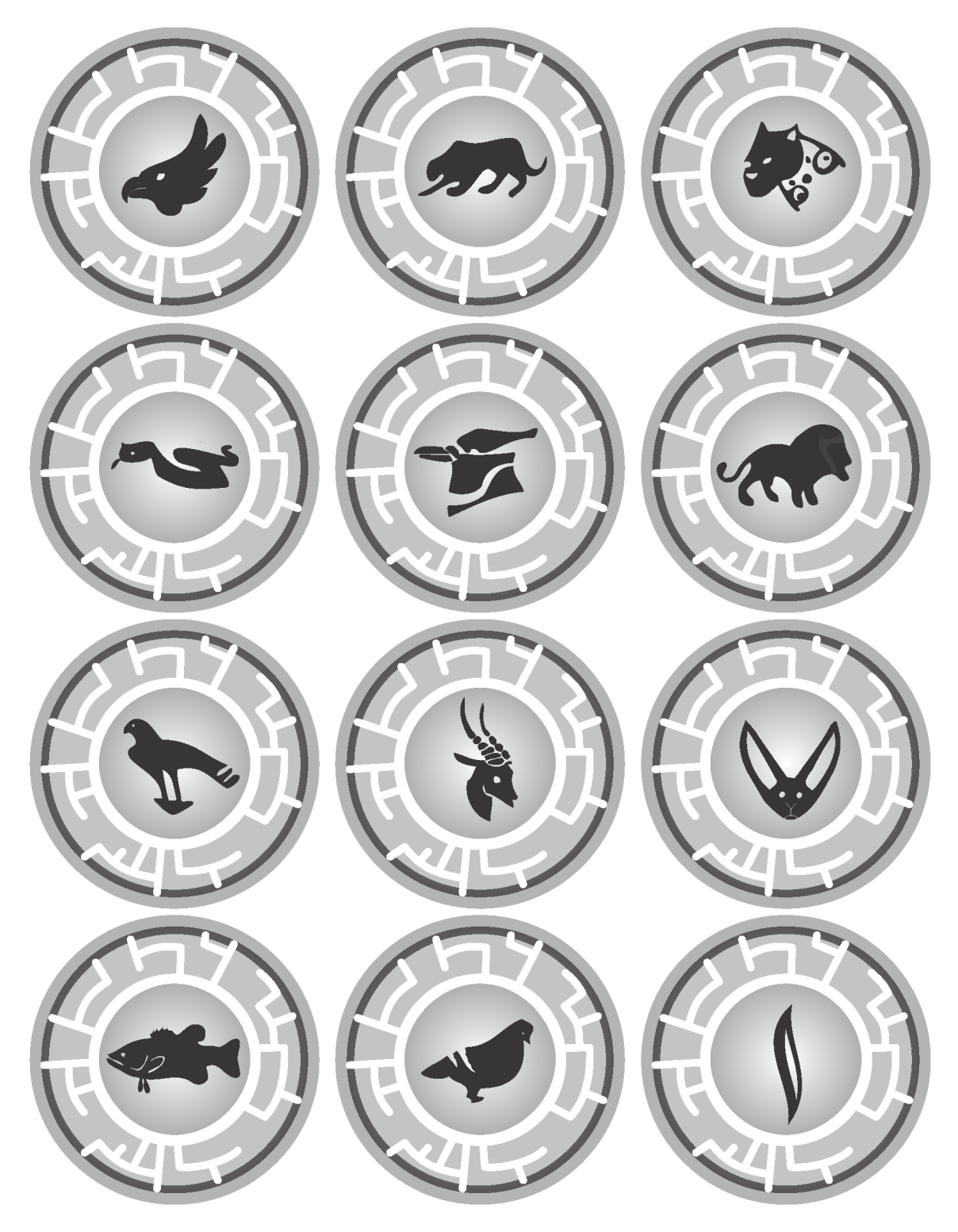 photo regarding Creature Power Discs Printable identify Heres a PDF of some of the Creature Energy Discs Ive designed