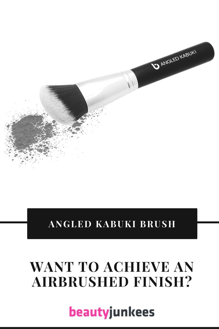 Angled Kabuki Brush Achieve an Airbrushed Finish