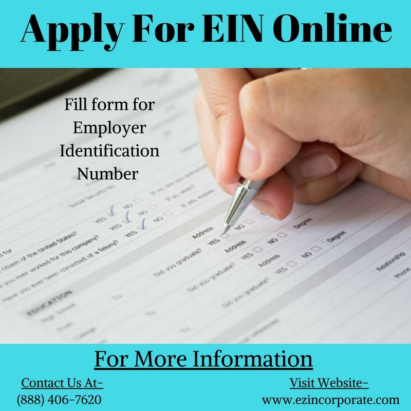 Apply Employer Identification Number Online, Federal Tax