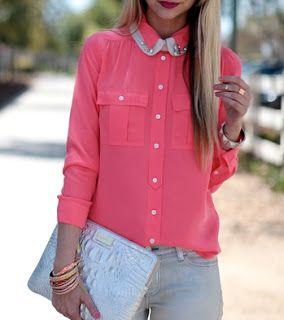 Inspiração Fashion: Camisa Rosa