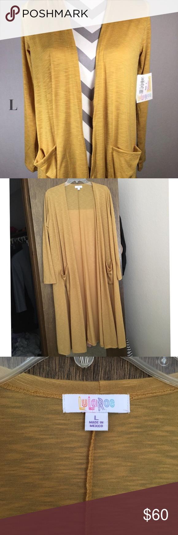 NWOT Lularoe Sarah mustard yellow duster cardigan | Dusters ...