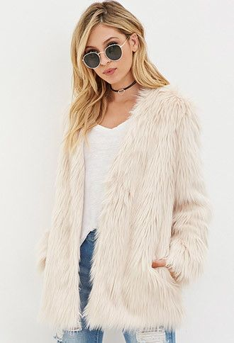 e89408bf3a2 Faux Fur Coat | Forever 21 - 2000156917 | Fur Pillows | Pink faux ...