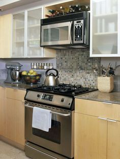 Backsplash only behind stove google search kitchen - Ideas for backsplash behind stove ...