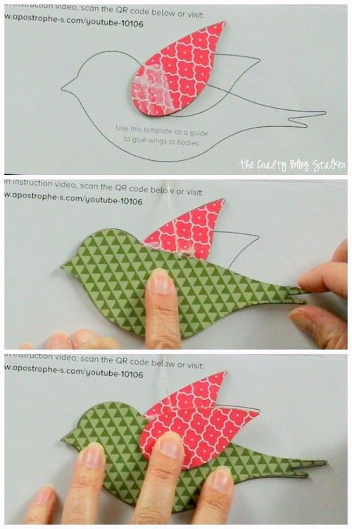 Hanging Bird Garland From The Flock Together Apostrophe S Craft Kit Easy Diy Tutorial