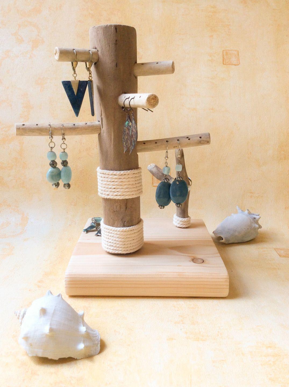 fr arbre a bijoux en bois flotte par l atelier de corinne plus bois flott. Black Bedroom Furniture Sets. Home Design Ideas