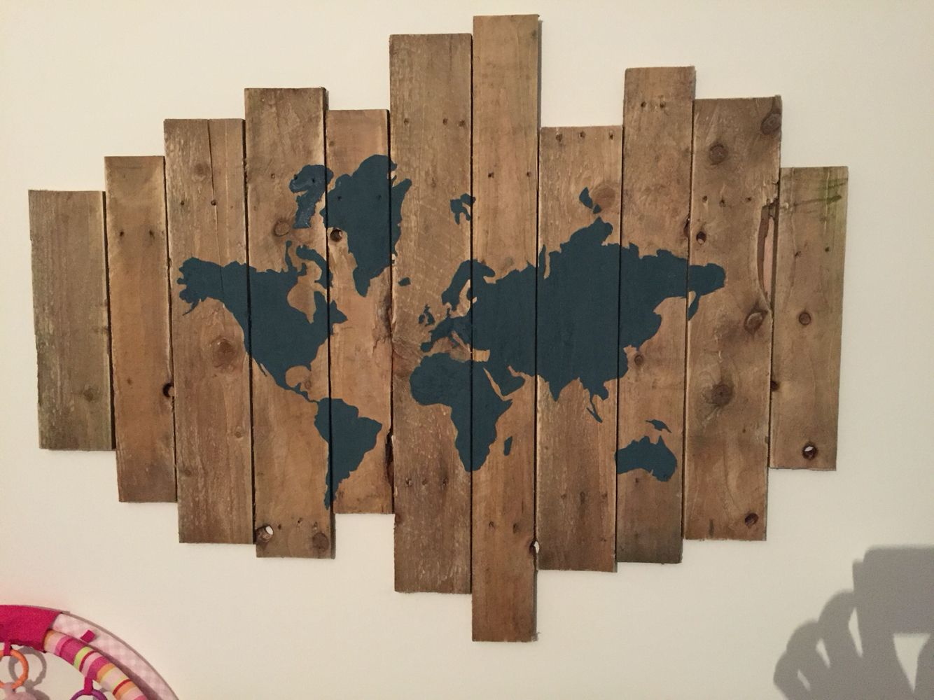 Reclaimed pallet wood world map diy home pinterest pallet reclaimed pallet wood world map gumiabroncs Choice Image