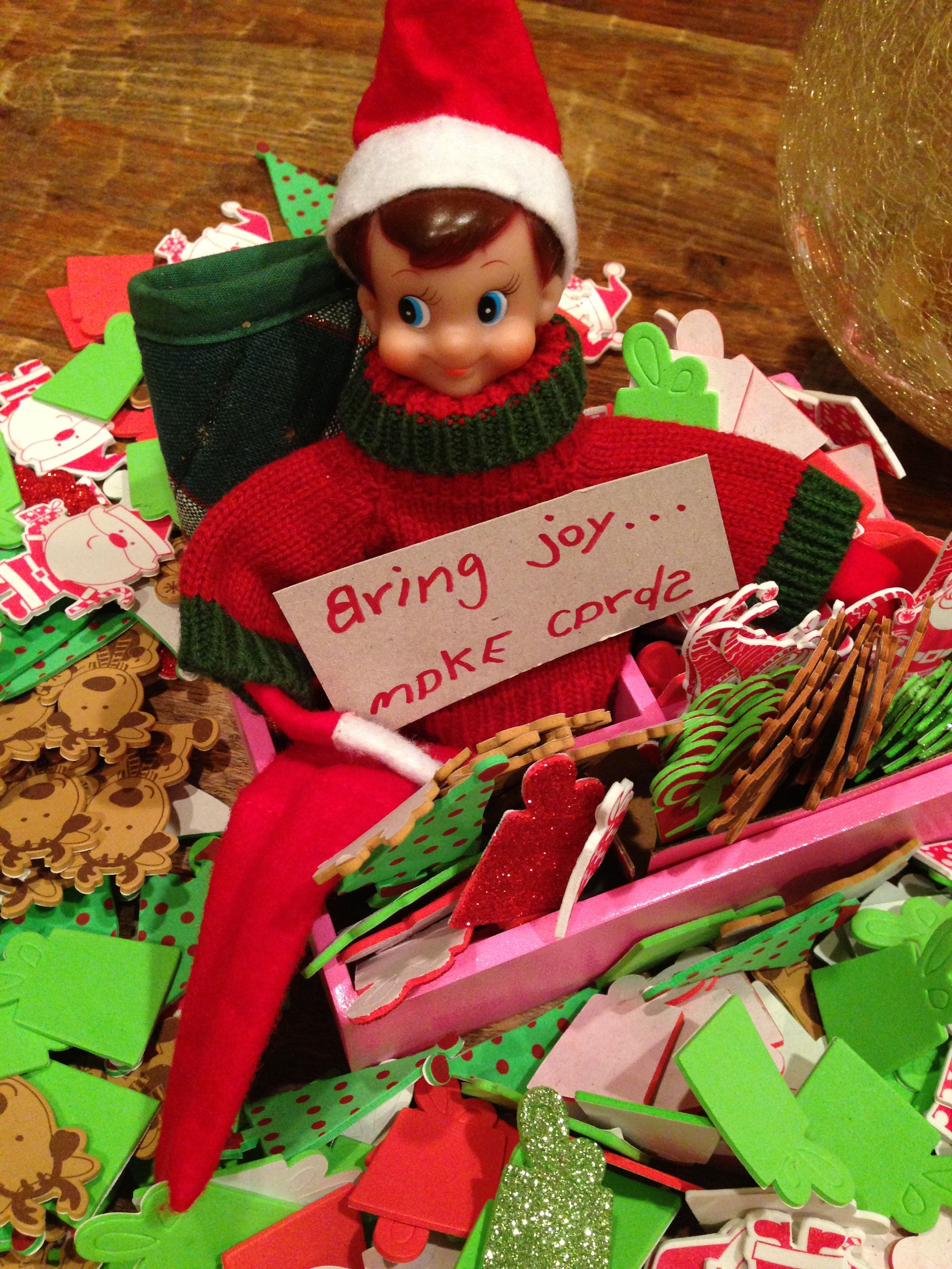 Have your kids make some holiday cards and deliver to an assisted living home, neighbors or strangers! Not all elves need to be naughty! Spread Christmas joy!