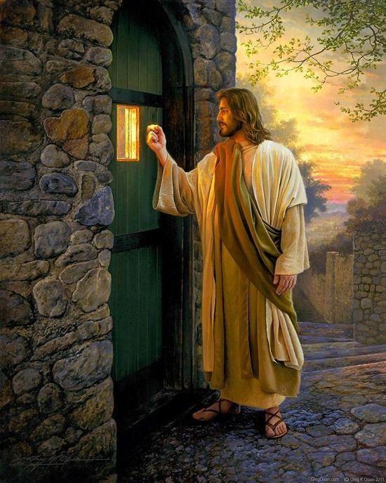 Jesus Tocando Tu Puerta Dios Pinterest Religiosas