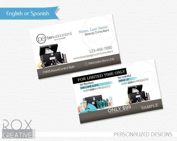 Beauticontrol Business Cards Digital Design Customized Just Print