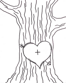 Tree. Make this into a stamp, or embroider it on a pillow
