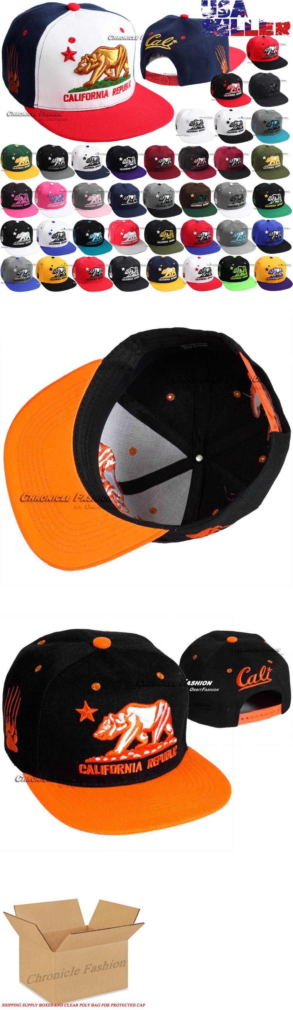 Hats 52365  Cali Baseball Cap California Republic Bear Embroidered Snapback  Hats Flat Men -  BUY IT NOW ONLY   11.35 on  eBay  baseball  california ... 724c168e1cba