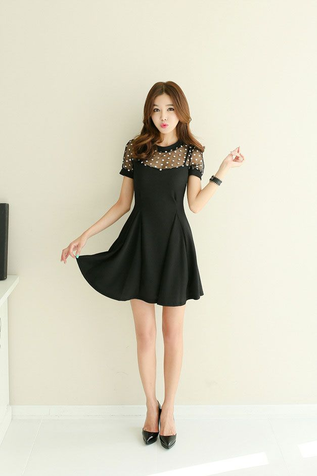 d3c26392ea Flower Sheer Dress | Korean Fashion | STYLE | CLOTHES ✯ | Fashion ...