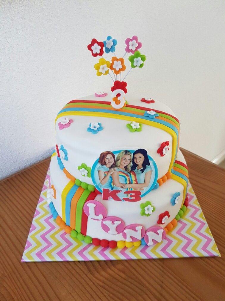 k3 taart   layla's verjaardag   pinterest   cake, cake baking and pies