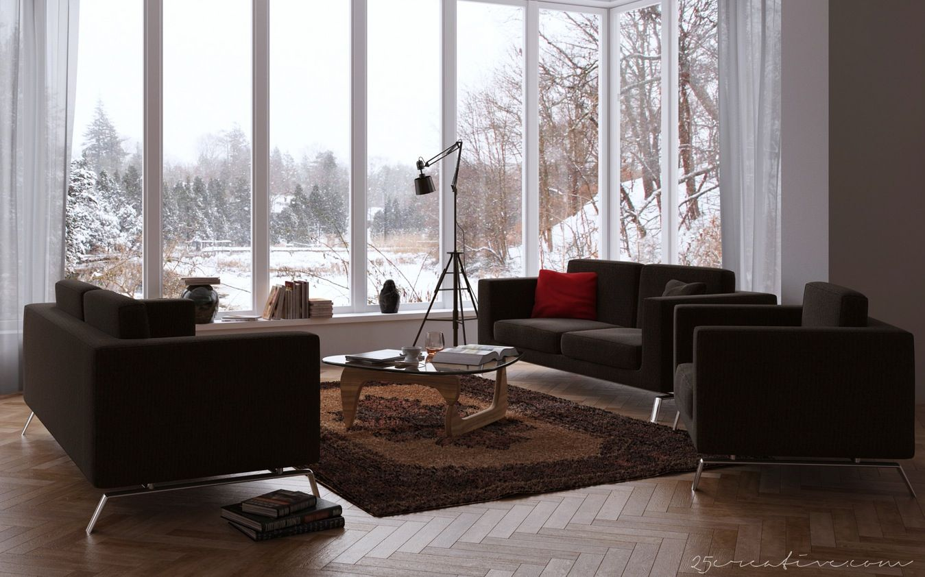 chocolate living room. Maximizing Home Living Room Ideas  windowed walls living spaces on chocolate sofas