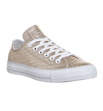 4b6f2d78282b Actually in love with these Converse All Star Low Leather Rose Gold Croc  Exclusive - Unisex Sports