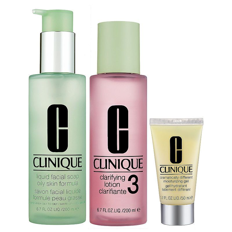 Clinique 3 Step Skin Care System For Skin Types 3 4 Combination Oily To Oily Skins Oily Skin Care Skin Care System Skin Cleanser Products