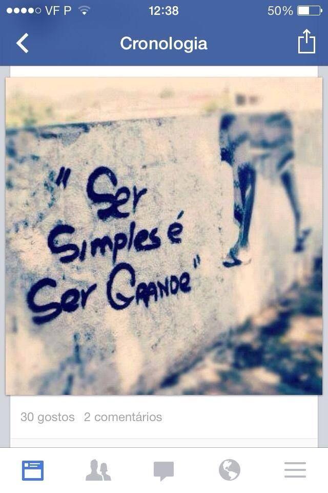 SER SIMPLES É SER GRANDE