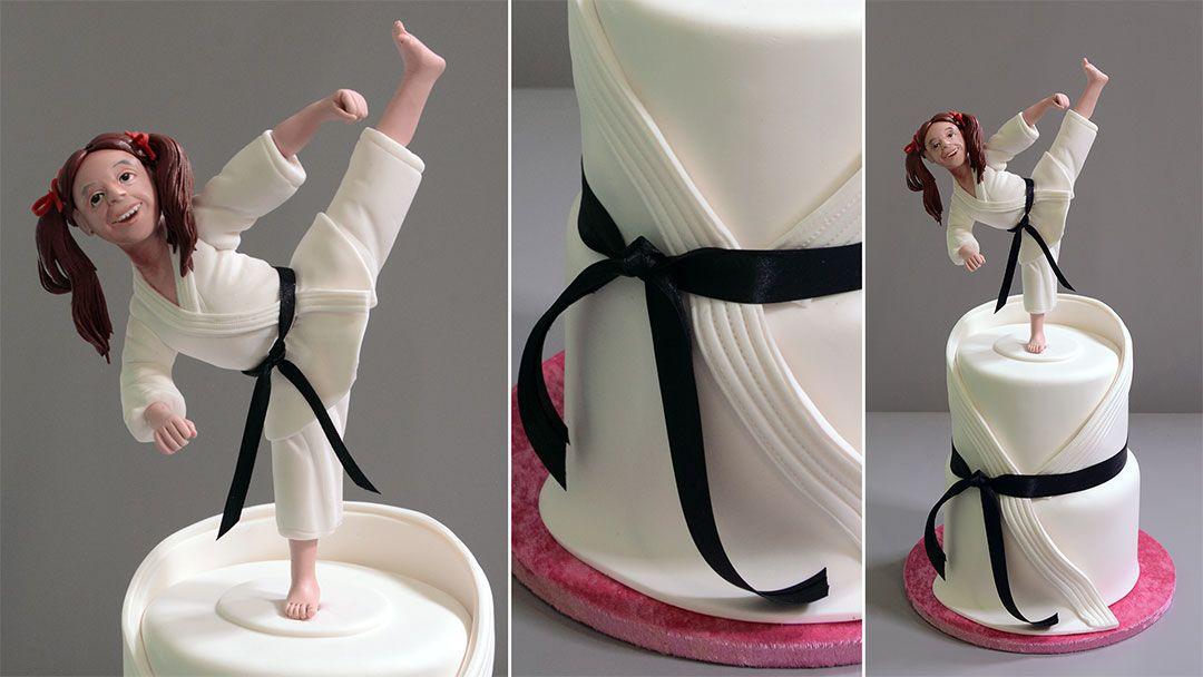 Learn how to make a sugar cake topper of a human figurine