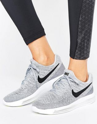 Nike Running Lunarepic Flyknit Low Trainers In Grey