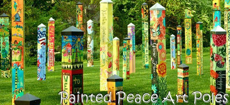 Garden Art Pole Innovative Ideas Garden ... #artideas | Art Ideas ...