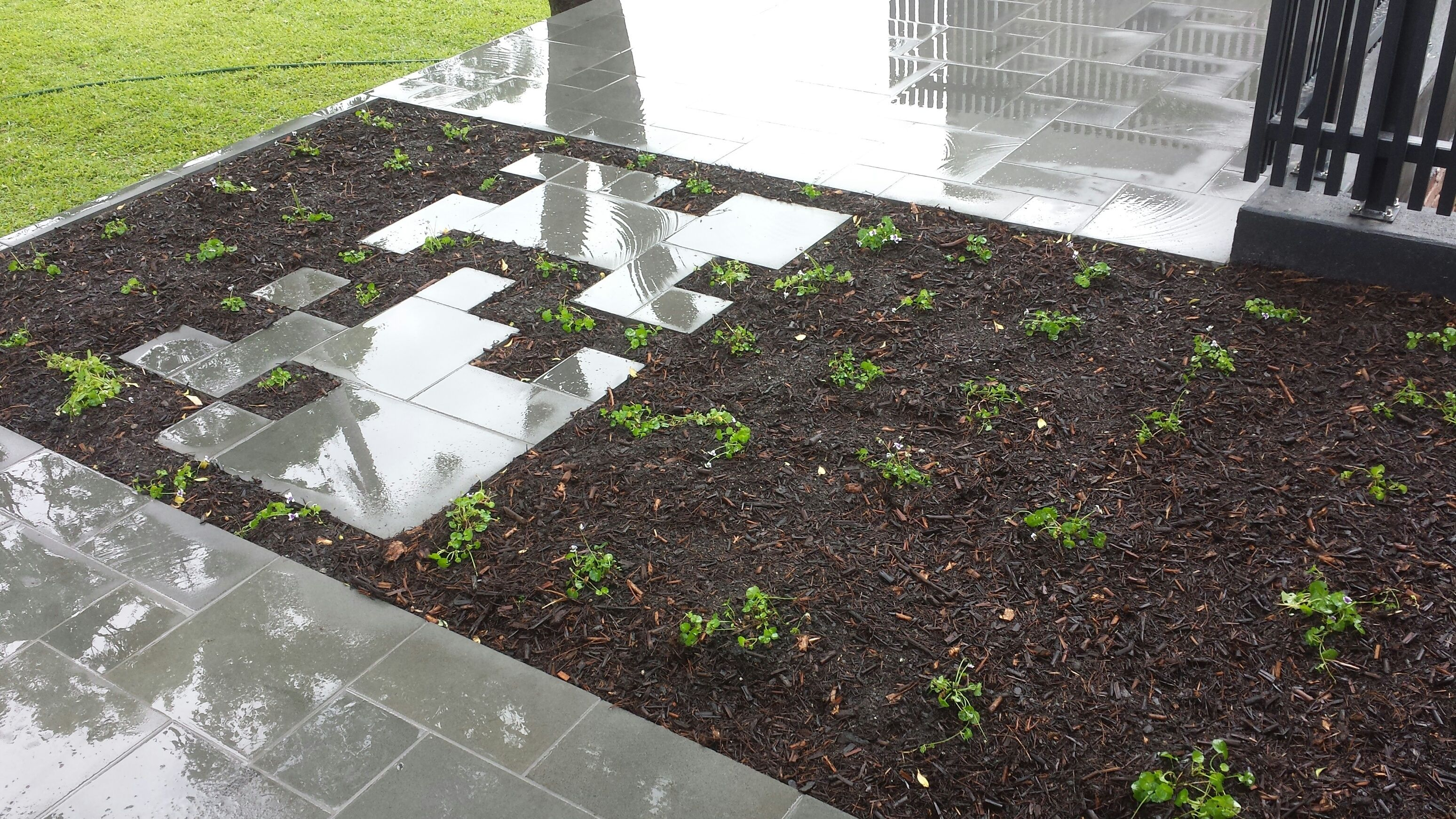Sawn Bluestone Modular Paving Situated On The Suspended