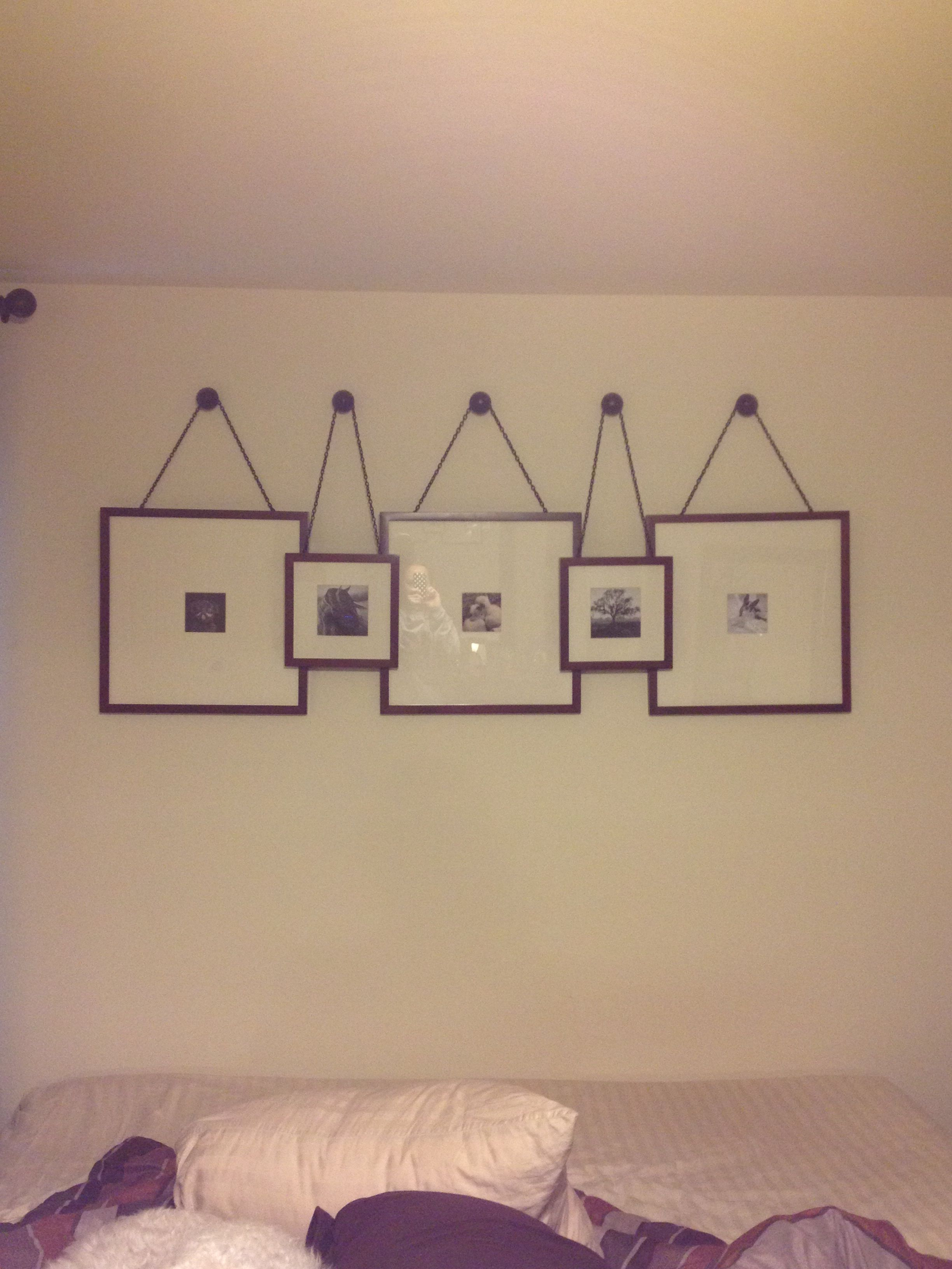 Picture collage over the bed wall groupings framing - Over bed art ideas ...