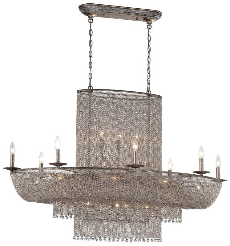 View the Metropolitan N7222-578 25 Light 1 Tier Linear Chandelier from the Shimmering Falls Collection at LightingDirect.com.