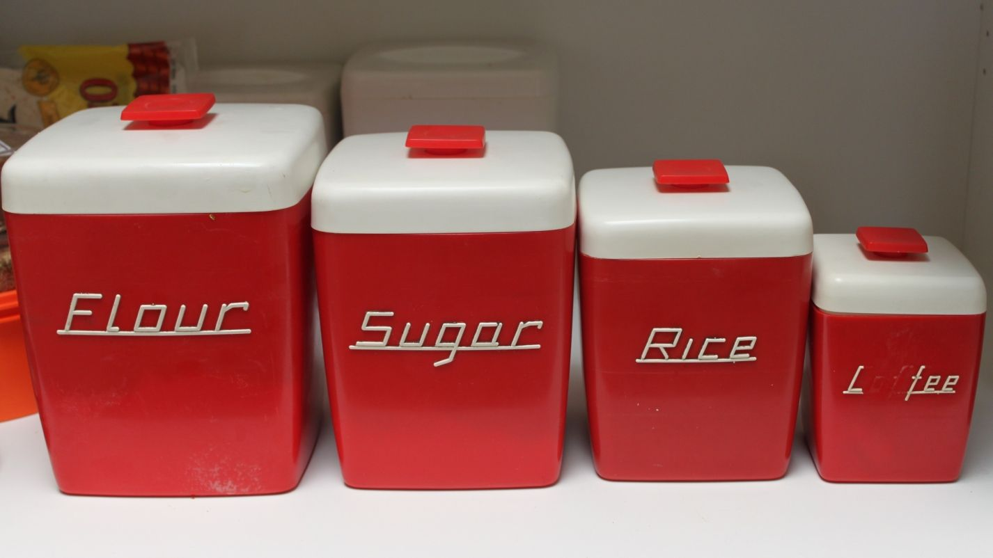 I Love These Red Canisters!