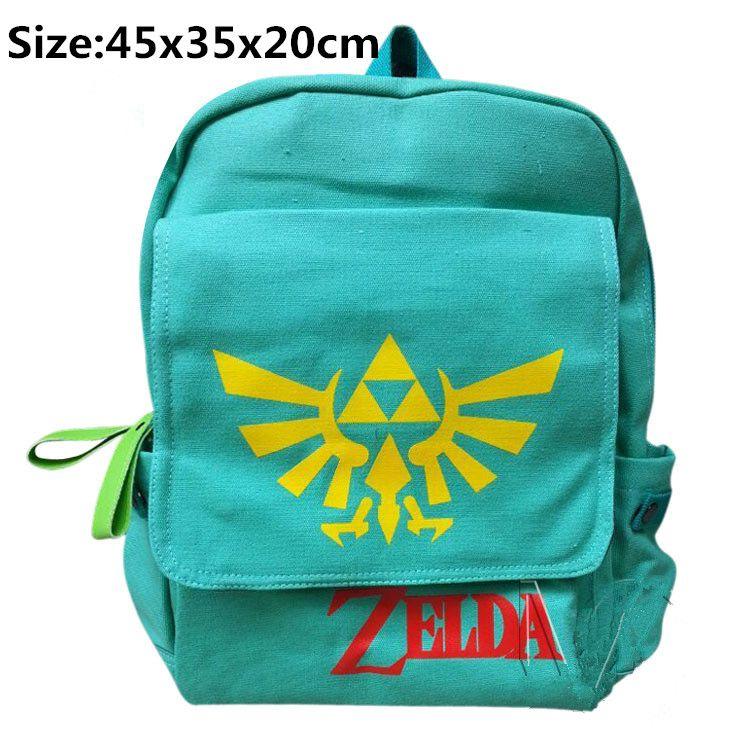 Green Nintendo Legend of Zelda Triforce Canvas Backpack Bag boy   girl s 1f864a05a3e51
