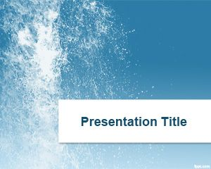 Splash Water PowerPoint Template is a free PPT background ...