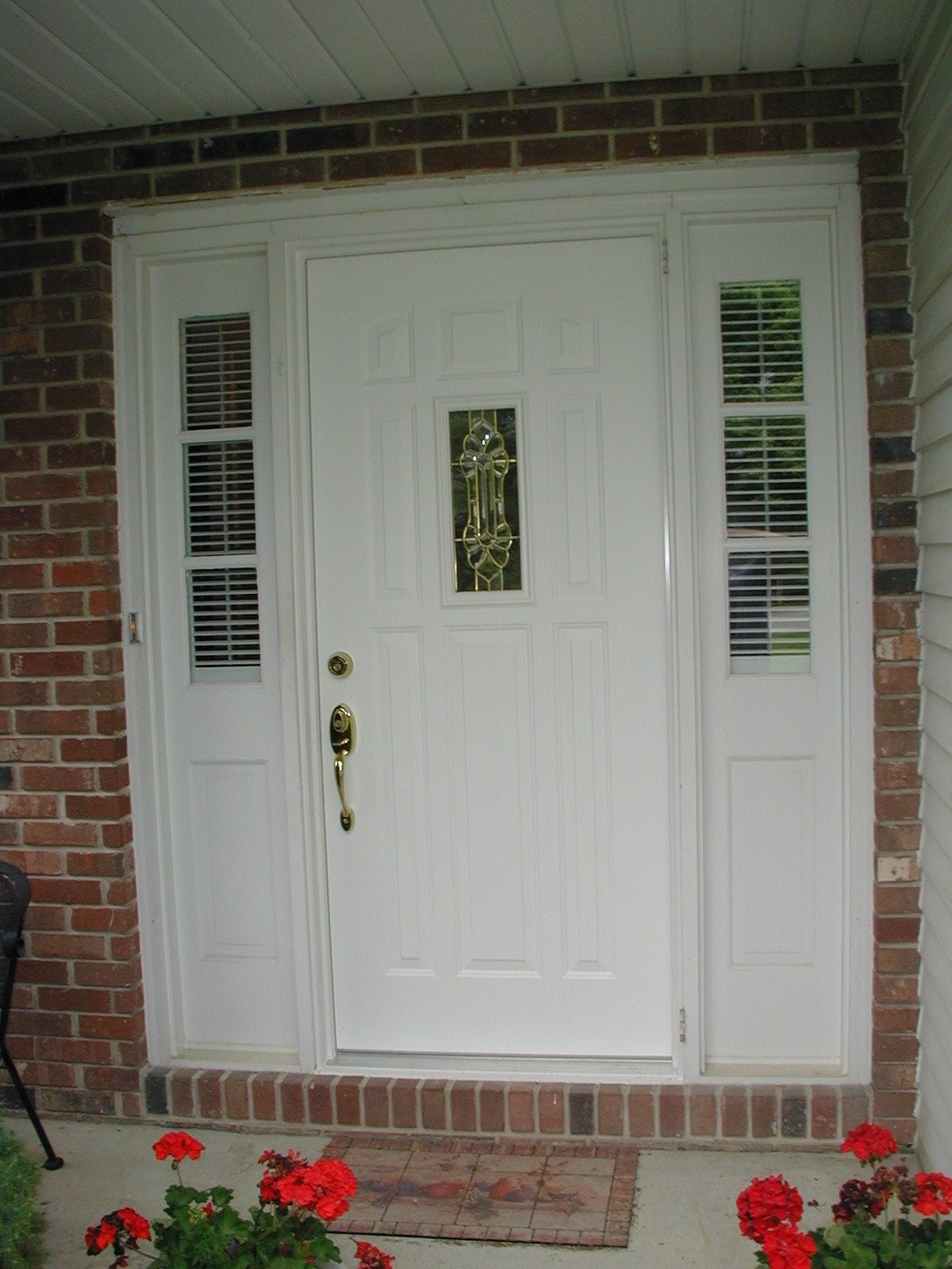 Door With Small Window And Two Sidelites Entry Doors Doors Entry Door Systems