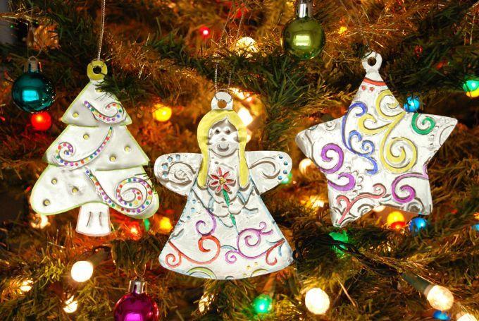 Embossed Metal Ornaments - Christmas