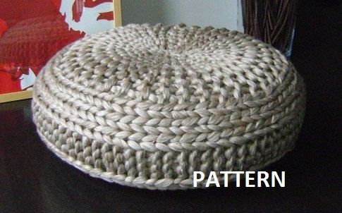 CROCHET PATTERN Diy Tutorial XL Large Crochet Pouf Poof, Ottoman ...