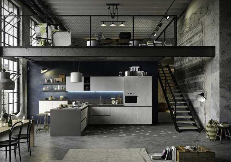 Elegant und attraktiv industrielle Stil Küche Designs #loftdesign