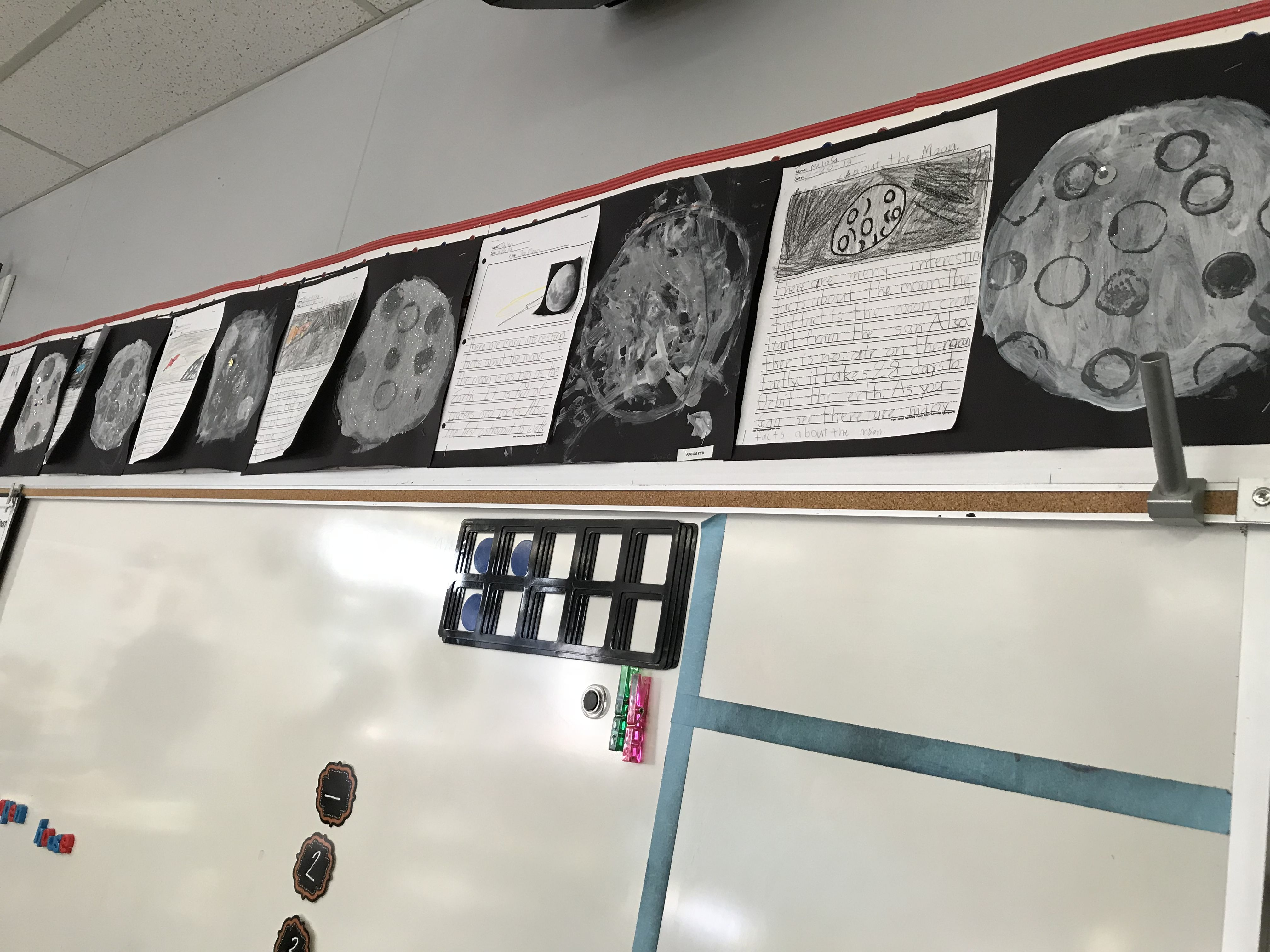 Informative 1st Grade Moon Writing With Moon Art