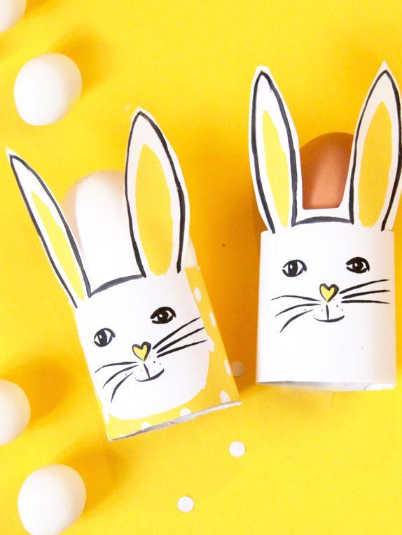 Diy oster eierbecher selber machen diy kids easter easter bunny und diy for kids - Eierbecher selber basteln ...