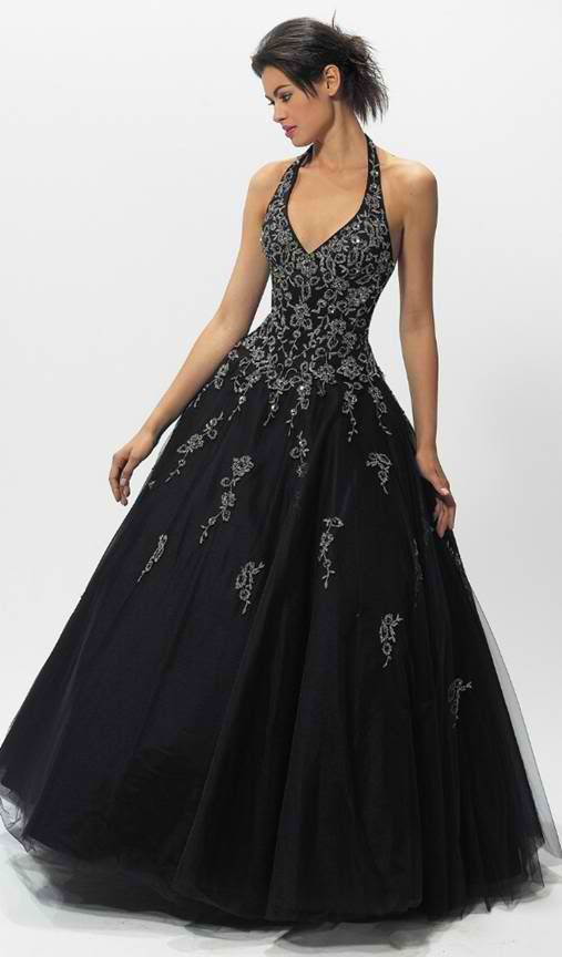 black ball gown dresses for plus size