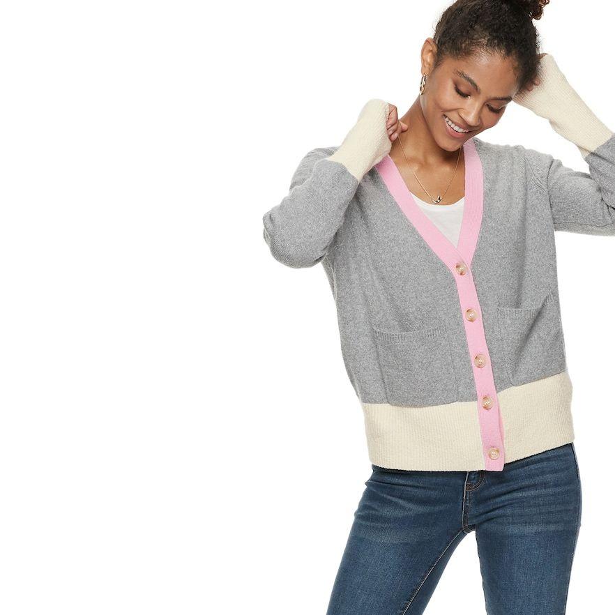 b4223071b58 Women s POPSUGAR Colorblock Cardigan Sweater