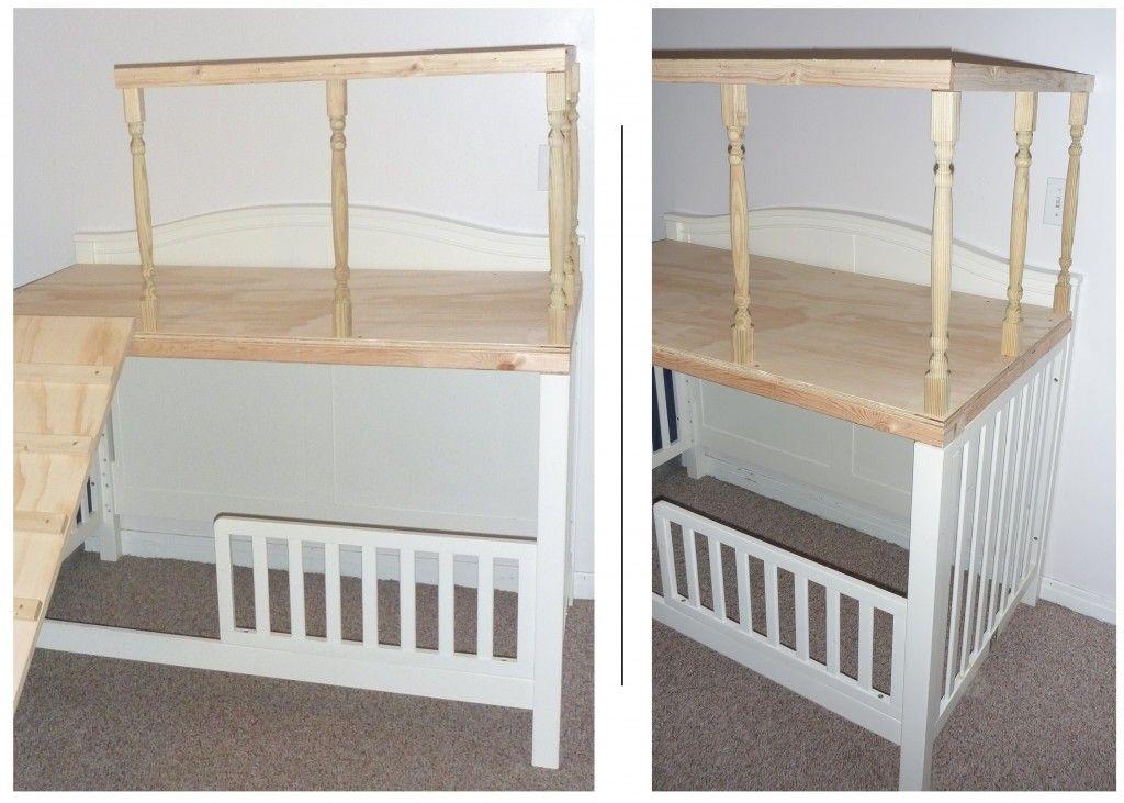 Crib Turned Play Loft Crib Makeover Crib Toddler Bed Cribs