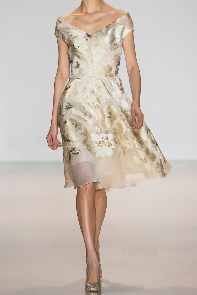 New Lela Rose Metallilc Fil Coupe Dress Gold Ivory Sold Out On Net A Porter 4 Clothing Shoes Accessories Women S Dresses Ebay