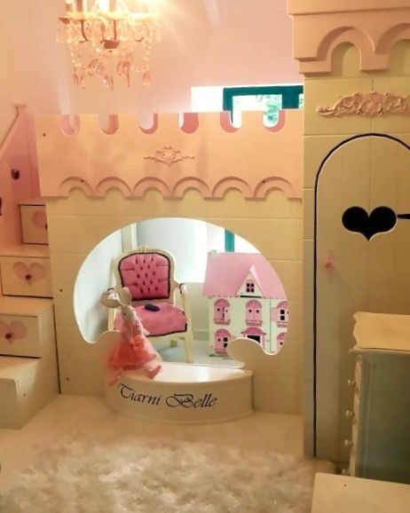 Princess Themed Children\'s Bedroom Bunk Bed by Dreamcraft Furniture ...