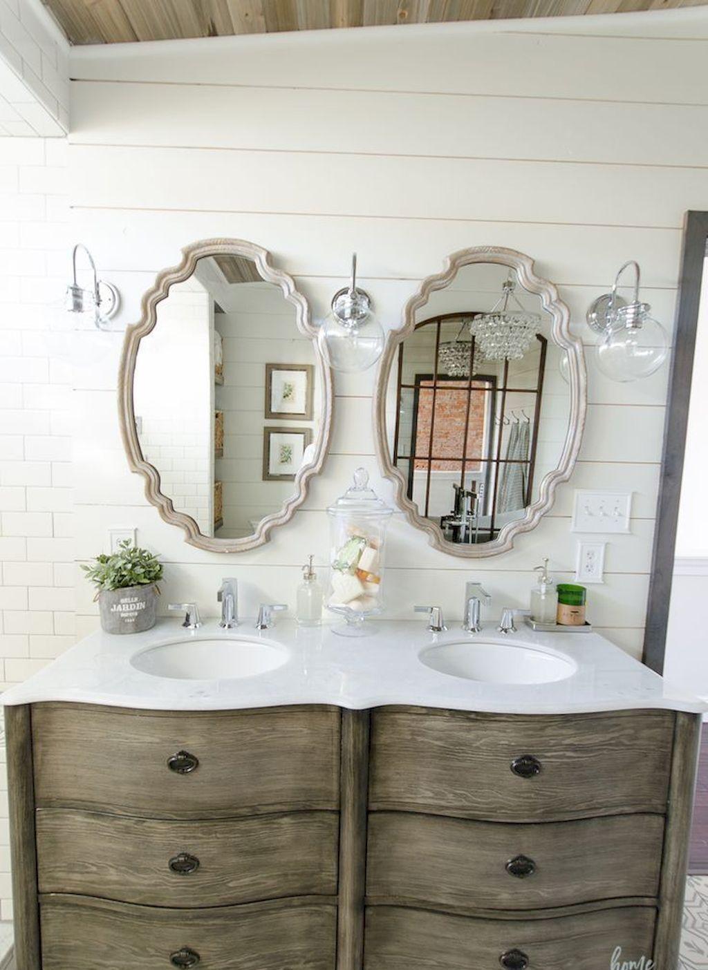 110 spectacular farmhouse bathroom decor ideas (50 | Pinterest ...