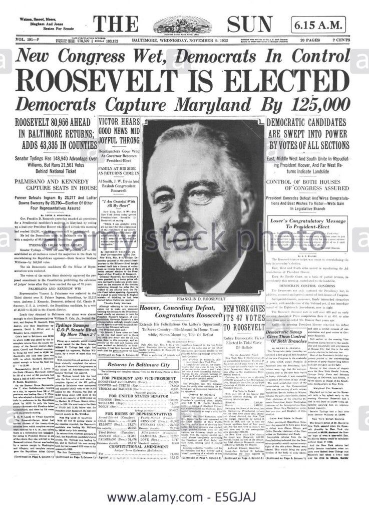 1932 newspaper headlines 1864 1932 1960 Big Newspaper - newspaper headline template