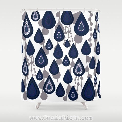 Best Blue And Coral Shower Curtain Images - 3D house designs ...