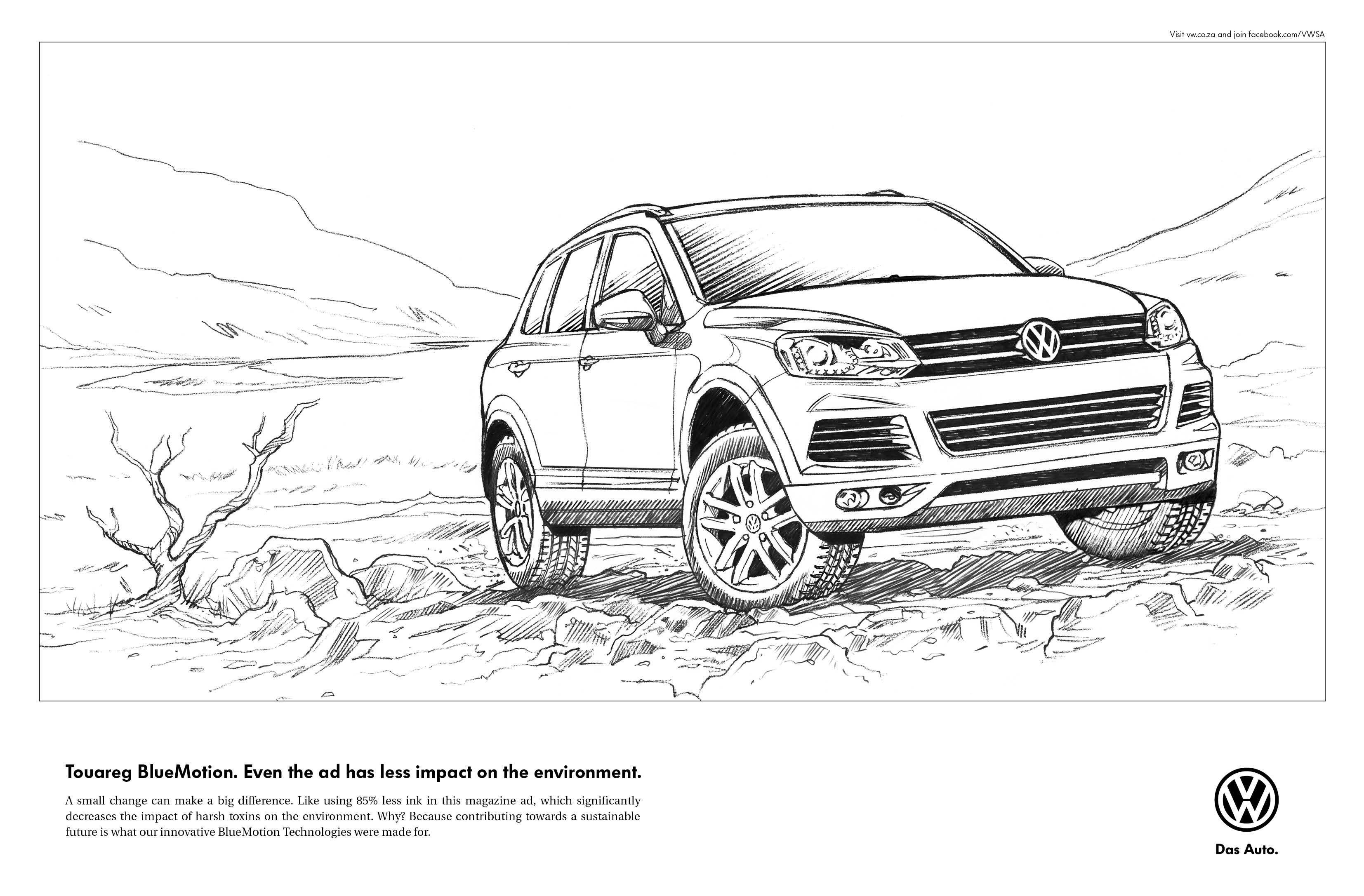 Volkswagen Touareg Bluemotion Line Drawing Cool Car Drawings Fuse Box