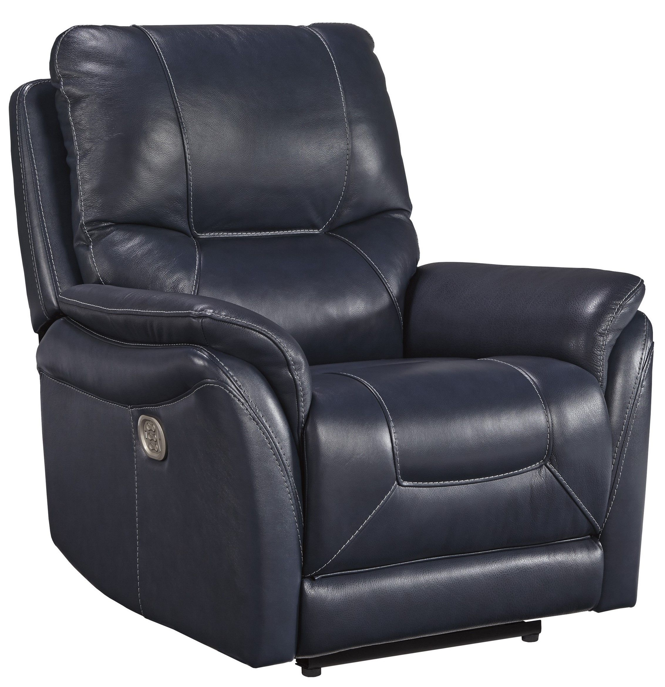 Lowest Price On Signature Design By Ashley Stolpen Blue Power Recliner With Adjustable Headrest 5650413 Shop Today Recliner Power Recliners Furniture