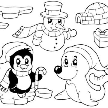 cute winter coloring pages - photo#19