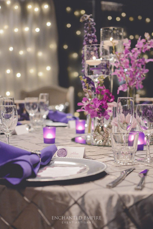 Purple Platinum Wedding In 2018 Wedding Decorations Pinterest